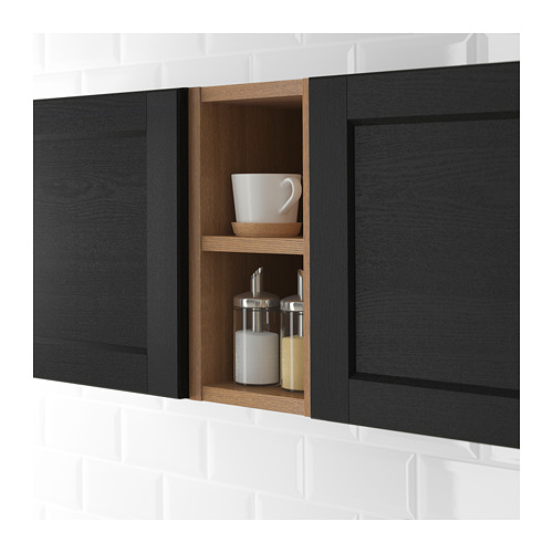 VADHOLMA - open storage, brown/stained ash | IKEA Hong Kong and Macau - PE692039_S4