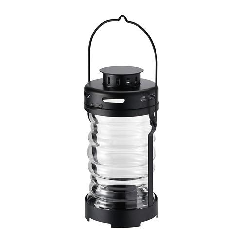 GLIMRANDE - 燭燈燭台,室內/戶外用, 黑色   IKEA 香港及澳門 - PE734711_S4