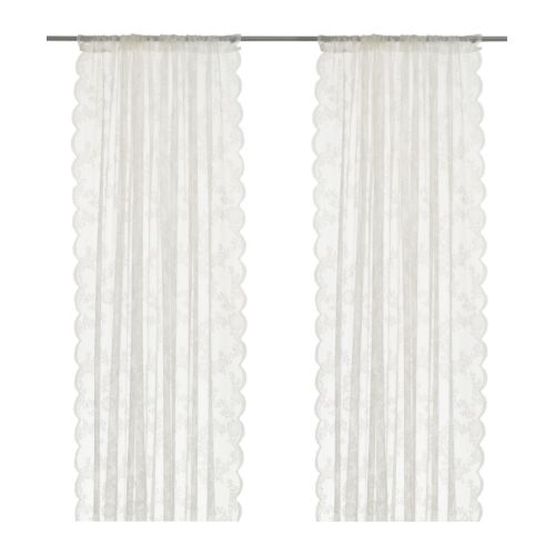 ALVINE SPETS - 窗紗,一對, 灰白色   IKEA 香港及澳門 - PE242082_S4