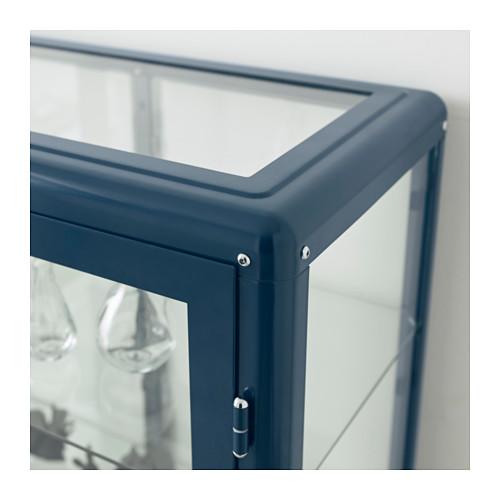 FABRIKÖR - glass-door cabinet, black-blue | IKEA Hong Kong and Macau - PE644733_S4