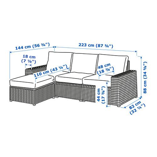 SOLLERÖN - 戶外三座位組合式梳化, 附腳凳 褐色/Frösön/Duvholmen 米黃色   IKEA 香港及澳門 - PE734795_S4