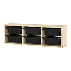 TROFAST - wall storage, light white stained pine/black | IKEA Hong Kong and Macau - PE692230_S3