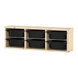 TROFAST - 上牆貯物架, 淺色染白松木/黑色 | IKEA 香港及澳門 - PE692230_S3