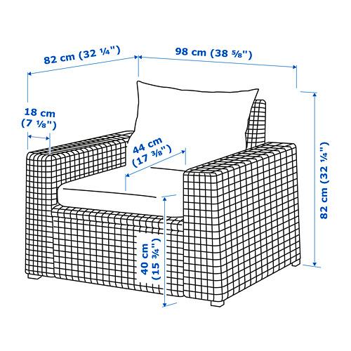 SOLLERÖN - 戶外扶手椅, 褐色/Hållö 黑色 | IKEA 香港及澳門 - PE734808_S4