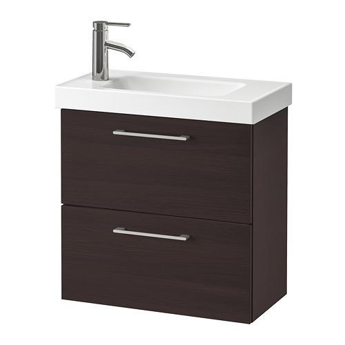 HAGAVIKEN/GODMORGON 雙抽屜洗手盆櫃