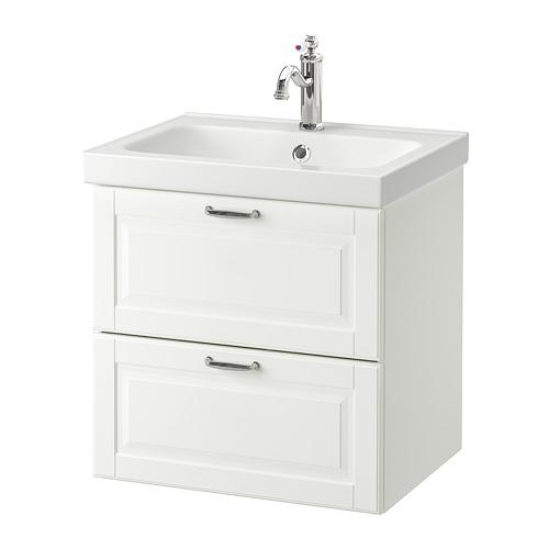 ODENSVIK/GODMORGON - 雙抽屜洗手盆櫃, Kasjön white/Hamnskär tap | IKEA 香港及澳門 - PE734825_S4
