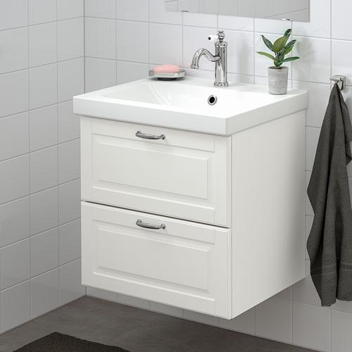 ODENSVIK/GODMORGON - 雙抽屜洗手盆櫃, Kasjön white/Hamnskär tap | IKEA 香港及澳門 - PE734822_S4