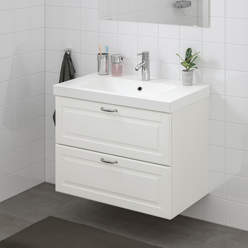 ODENSVIK/GODMORGON - wash-stand with 2 drawers, Kasjön white/Hamnskär tap | IKEA Hong Kong and Macau - PE734831_S4
