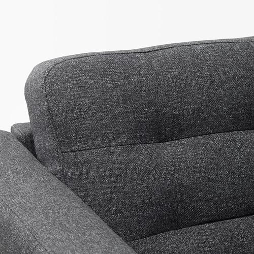LANDSKRONA - armchair, Gunnared dark grey/metal   IKEA Hong Kong and Macau - PE680169_S4