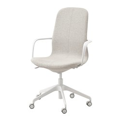 LÅNGFJÄLL - office chair with armrests, Gunnared beige/white   IKEA Hong Kong and Macau - PE734841_S3