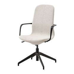 LÅNGFJÄLL - conference chair with armrests, Gunnared beige/black   IKEA Hong Kong and Macau - PE734852_S3