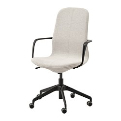 LÅNGFJÄLL - office chair with armrests, Gunnared beige/black | IKEA Hong Kong and Macau - PE734854_S3