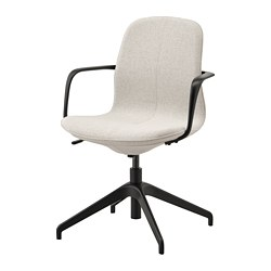 LÅNGFJÄLL - conference chair with armrests, Gunnared beige/black   IKEA Hong Kong and Macau - PE734857_S3