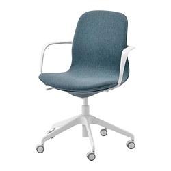 LÅNGFJÄLL - office chair with armrests, Gunnared blue/white   IKEA Hong Kong and Macau - PE734875_S3