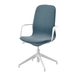 LÅNGFJÄLL - conference chair with armrests, gunnared blue/white | IKEA Hong Kong and Macau - PE734876_S3