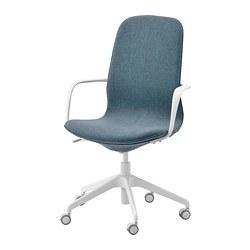 LÅNGFJÄLL - office chair with armrests, Gunnared blue/white | IKEA Hong Kong and Macau - PE734873_S3