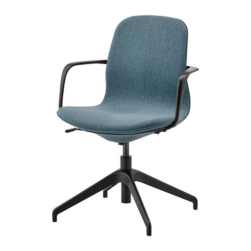 LÅNGFJÄLL - conference chair with armrests, Gunnared blue/black | IKEA Hong Kong and Macau - PE734883_S4