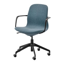 LÅNGFJÄLL - office chair with armrests, Gunnared blue/black | IKEA Hong Kong and Macau - PE734881_S3
