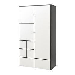 VISTHUS - 衣櫃, 灰色/白色 | IKEA 香港及澳門 - PE692344_S3