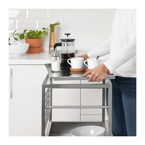 KUNGSFORS - kitchen trolley, stainless steel | IKEA Hong Kong and Macau - PE692355_S4