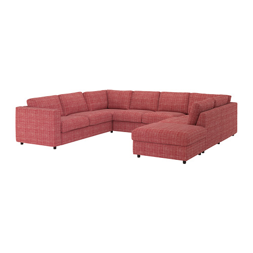 VIMLE cover for u-shaped sofa, 6-seat