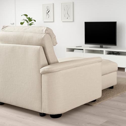 LIDHULT - corner sofa, 6-seat, with chaise longue/Gassebol light beige | IKEA Hong Kong and Macau - PE705917_S4