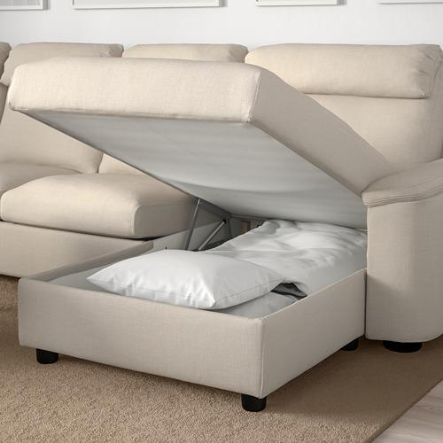 LIDHULT - corner sofa, 6-seat, with chaise longue/Gassebol light beige | IKEA Hong Kong and Macau - PE706076_S4