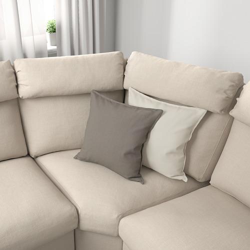 LIDHULT - corner sofa, 6-seat, with chaise longue/Gassebol light beige | IKEA Hong Kong and Macau - PE689381_S4