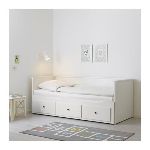 HEMNES - 日間床連3抽屜及2床褥, 白色/Malfors 特級承托 | IKEA 香港及澳門 - PE644899_S4