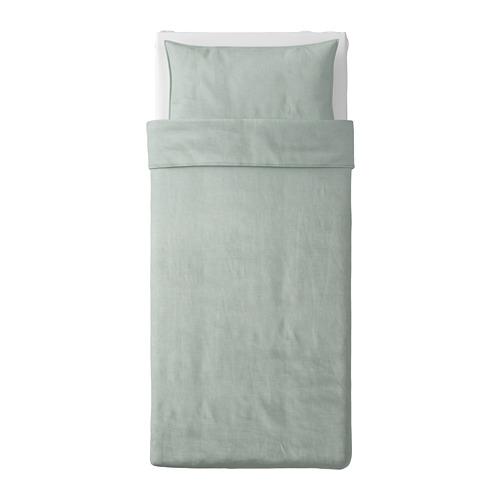 BERGPALM - 被套枕袋套裝, 綠色/條紋, 150x200/50x80 cm  | IKEA 香港及澳門 - PE692810_S4