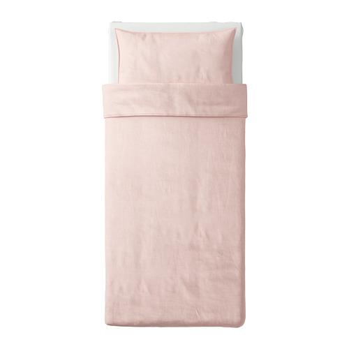 BERGPALM - 被套枕袋套裝, 粉紅色/條紋, 150x200/50x80 cm  | IKEA 香港及澳門 - PE692811_S4