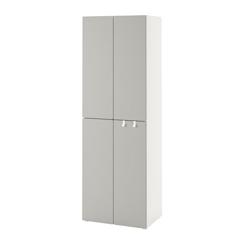 PLATSA/SMÅSTAD - wardrobe, white grey/with 2 clothes rails | IKEA Hong Kong and Macau - PE788860_S4