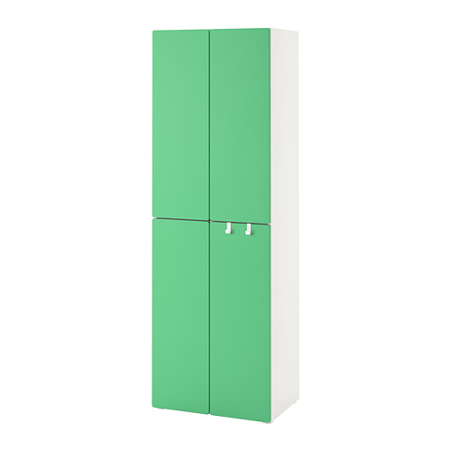 PLATSA/SMÅSTAD - wardrobe, white green/with 2 clothes rails | IKEA Hong Kong and Macau - PE788861_S4