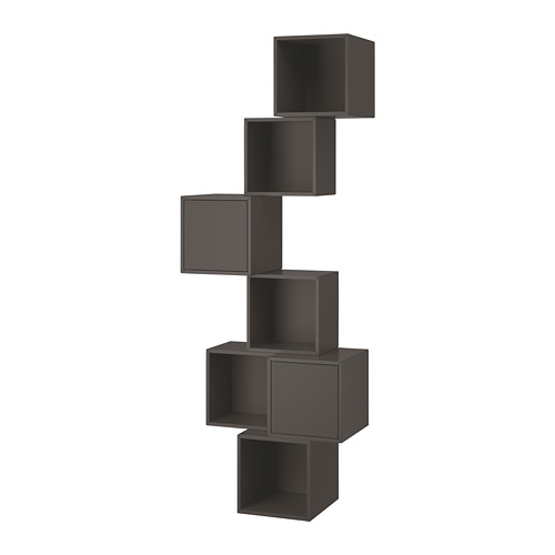 EKET - wall-mounted cabinet combination, dark grey | IKEA Hong Kong and Macau - PE692505_S4