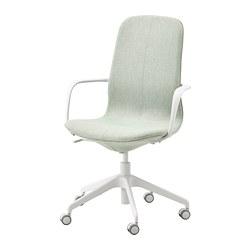 LÅNGFJÄLL - office chair with armrests, Gunnared light green/white | IKEA Hong Kong and Macau - PE735054_S3