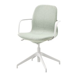 LÅNGFJÄLL - conference chair with armrests, gunnared light green/white | IKEA Hong Kong and Macau - PE735058_S3