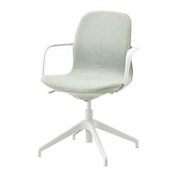LÅNGFJÄLL - 旋轉椅連扶手, gunnared 淺綠色/白色 | IKEA 香港及澳門 - PE735058_S3