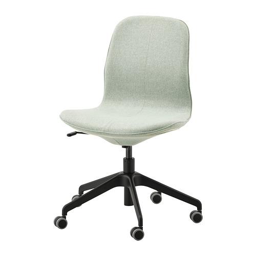 LÅNGFJÄLL - 辦公椅, Gunnared 淺綠色/黑色 | IKEA 香港及澳門 - PE735063_S4