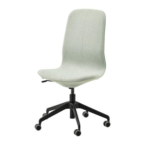 LÅNGFJÄLL - 辦公椅, Gunnared 淺綠色/黑色 | IKEA 香港及澳門 - PE735064_S4
