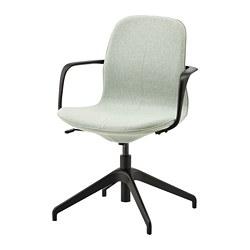 LÅNGFJÄLL - conference chair with armrests, Gunnared light green/black | IKEA Hong Kong and Macau - PE735069_S3
