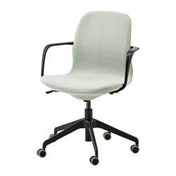 LÅNGFJÄLL - office chair with armrests, Gunnared light green/black | IKEA Hong Kong and Macau - PE735068_S3