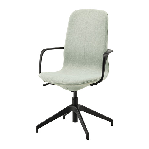 LÅNGFJÄLL - conference chair with armrests, Gunnared light green/black | IKEA Hong Kong and Macau - PE735065_S4