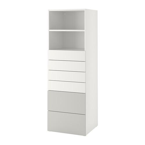 PLATSA/SMÅSTAD - 書架, 白色/灰色 | IKEA 香港及澳門 - PE788931_S4