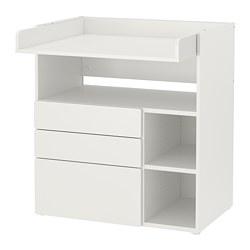 SMÅSTAD - 更換尿布檯, white white/with 3 drawers | IKEA 香港及澳門 - PE788936_S3