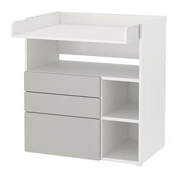 SMÅSTAD - 更換尿布檯, white grey/with 3 drawers | IKEA 香港及澳門 - PE788941_S3