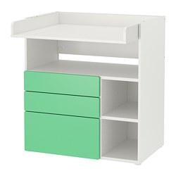 SMÅSTAD - 更換尿布檯, white green/with 3 drawers | IKEA 香港及澳門 - PE788943_S3