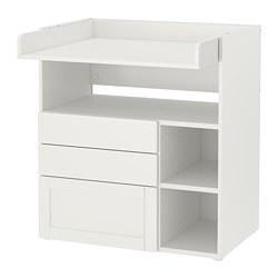 SMÅSTAD - 更換尿布檯, white with frame/with 3 drawers | IKEA 香港及澳門 - PE788946_S3