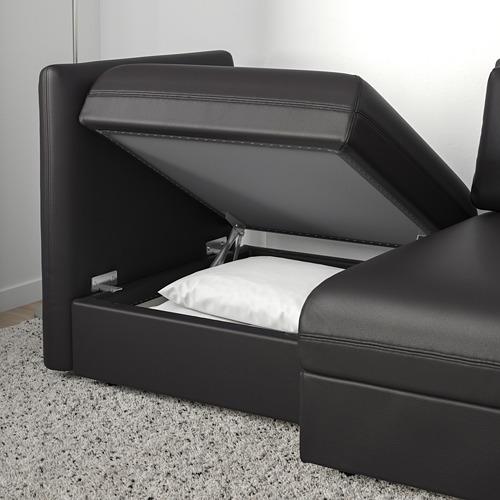 VALLENTUNA - 兩座位組合式梳化連梳化床, and storage/Murum black   IKEA 香港及澳門 - PE691153_S4