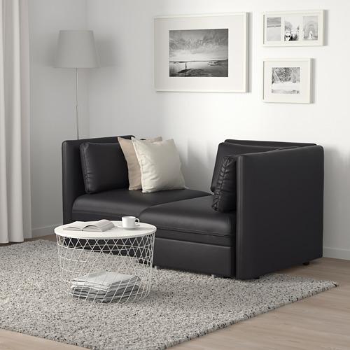 VALLENTUNA - 兩座位組合式梳化連梳化床, and storage/Murum black   IKEA 香港及澳門 - PE691200_S4