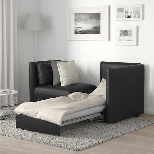 VALLENTUNA - 兩座位組合式梳化連梳化床, and storage/Murum black   IKEA 香港及澳門 - PE691210_S4